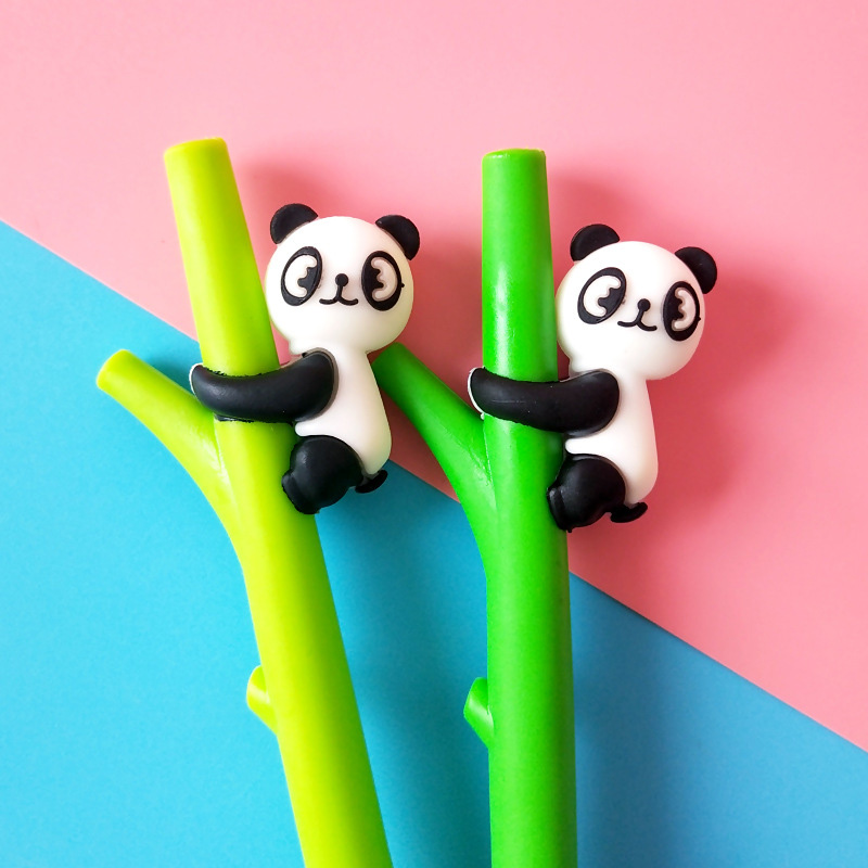 Dependable Panda Gel Pen 0.5mm Cute Bamboo Style Creative Pens For Kids Girls Gifts School Writing Supplies Korean Stationery Novelty Items
