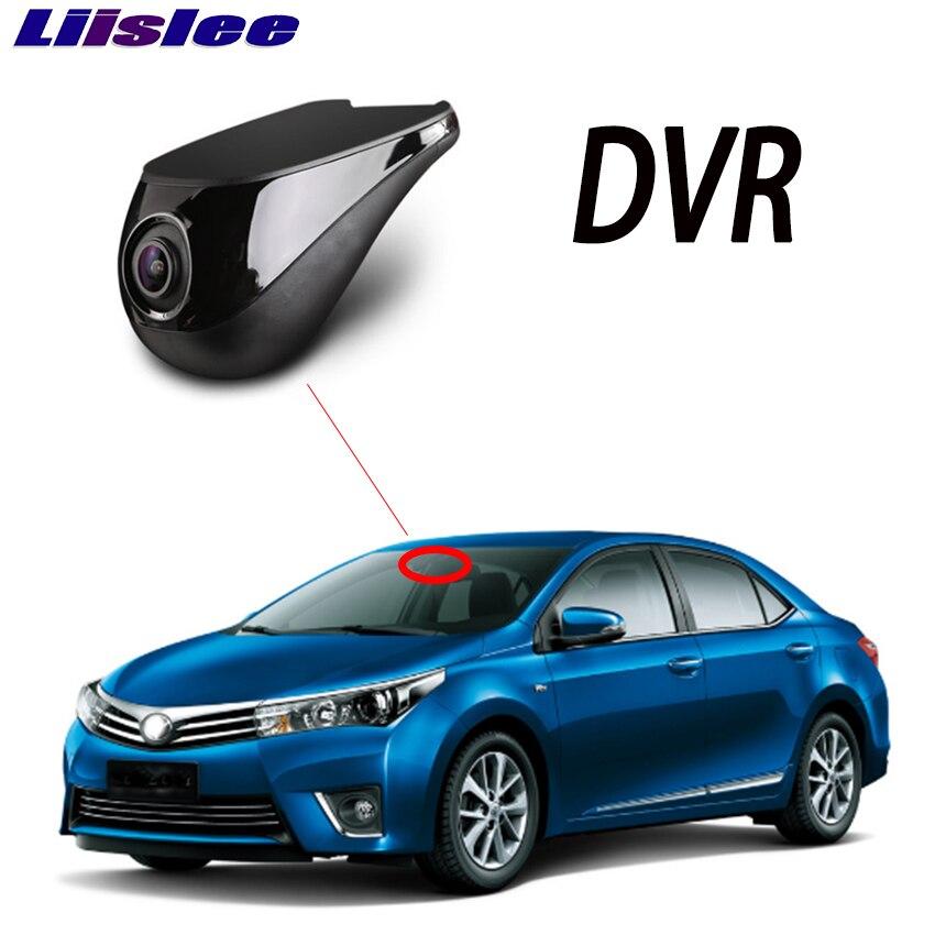 Liislee voiture DVR Wifi enregistreur vidéo caméra tableau de bord caméra pour Toyota Corolla E160 E170 2012 ~ 2019 Vision nocturne APP contrôle téléphone 1080 P