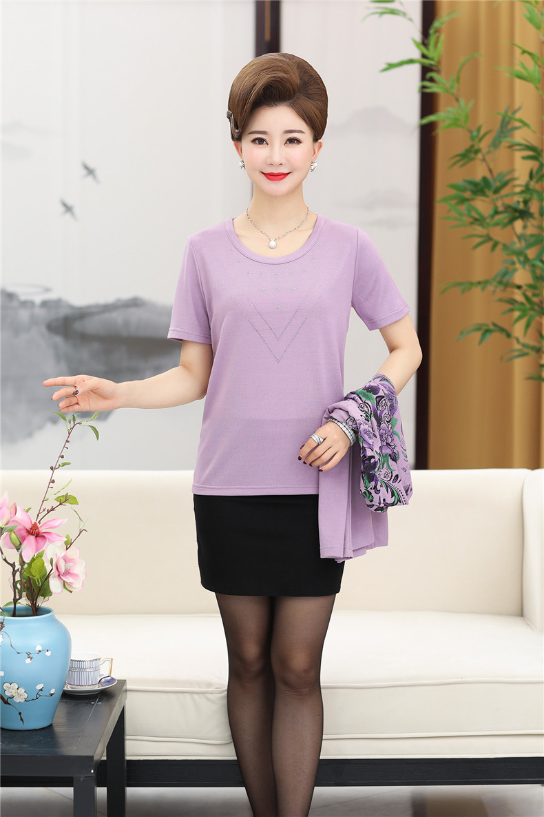 93a1bbf0b HOT SALE] XJXKS two pieces set women clothing tops short sleeve t ...