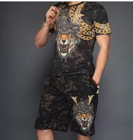 Fitness Tracksuit Summer Suit Men 2018 new design man set