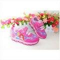 Nuevo 2016 niños zapatillas niños shoes zapatillas de deporte para niños girls shoes lámparas intermitentes final compuesto antideslizante 1-596
