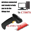 FreeShipping AFANDA Novo! CT007S 2.4G 30 m Wireless Laser Barcode Scanner W/Armazenamento Sem Fio/Com Fio para Windows/Windows CE + móvel