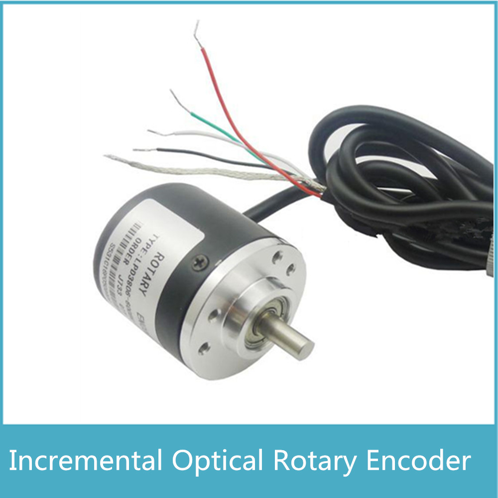 New Arrival AB Two Phase 5-24V 360 400 600CPR Pulses Incremental Optical Rotary Encoder Free Shipping