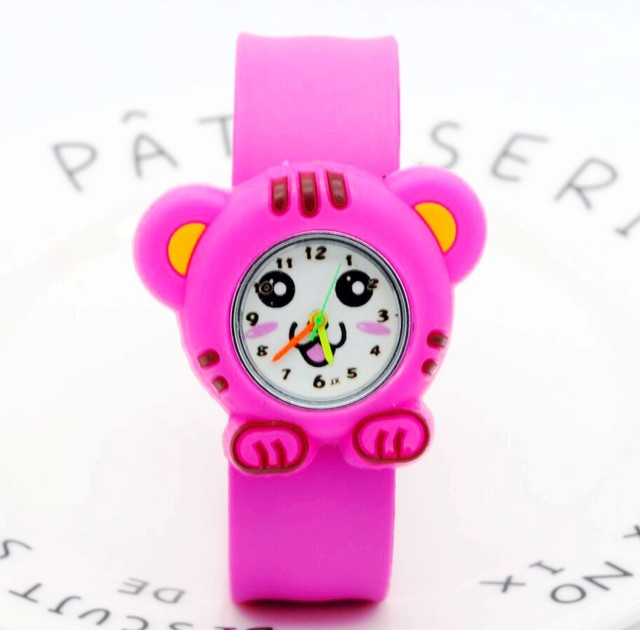 Fashion Watch Cute little Tiger Children Cartoon Slap Watch Wristwatch Casual Ki