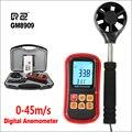 RZ цифровой анемометр измеритель скорости ветра Анемометр 0 ~ 45 м/с датчик горячего провода Анемометр GM8909