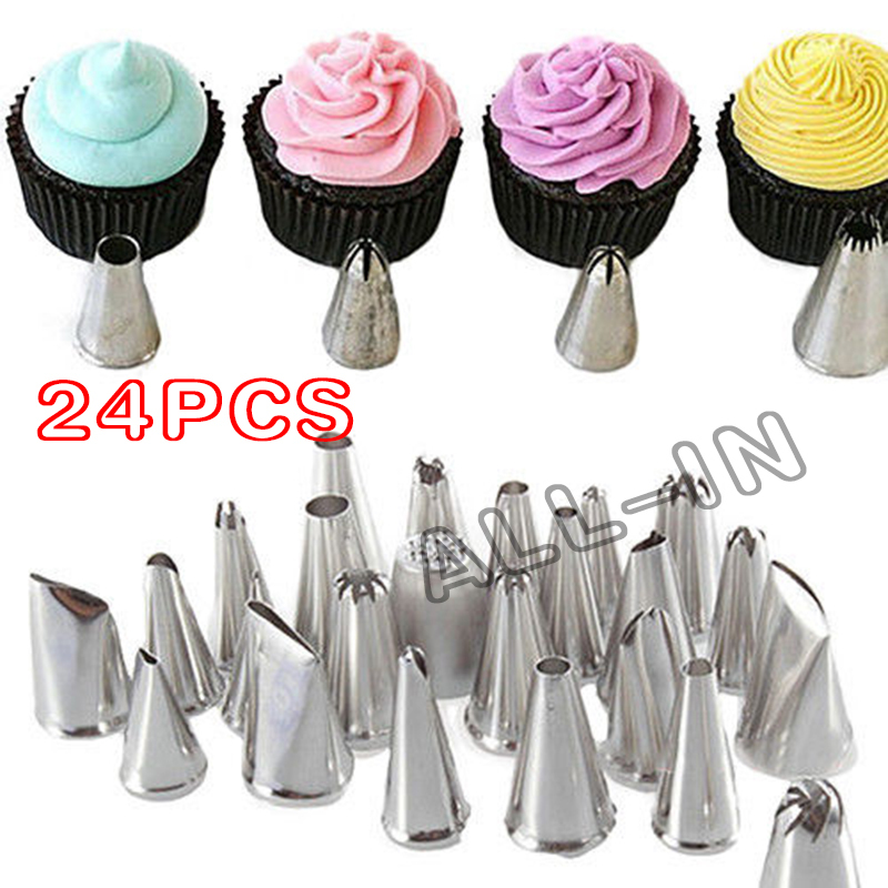 24 Style Icing Piping Nozzles Tips Cake Decorating Tools Cupcake Equipment Bakeware Baking Kitchen Accessories On Aliexpress Alibaba