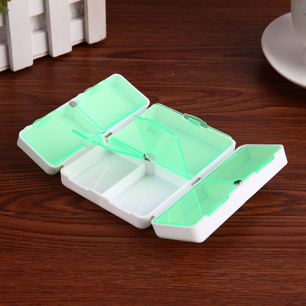 7 Days Foldable Pill Box Mini Container Drug Tablet Storage Travel Case Holder Cute Pill Boxes Medicine Case