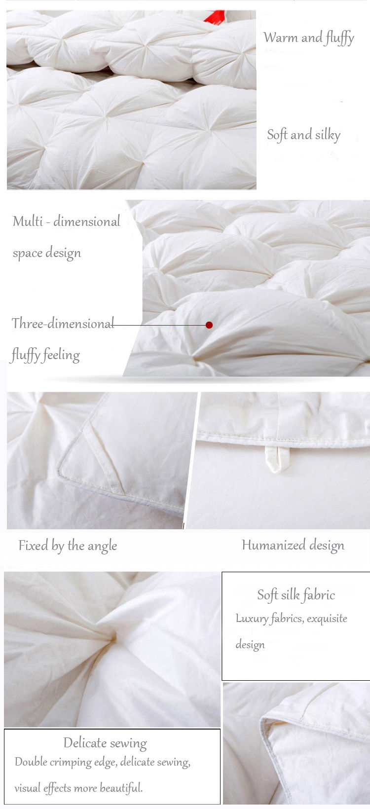 Multidimensional space duvet quilt White goose quilts European court warm and soft quilts comforter02