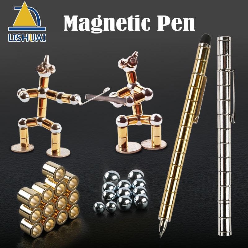 Crective Magnetica Penna A Sfera/stile Modulare Neodimio Magnetico Polare Pen Stressrelief FAI DA TE Desktoys