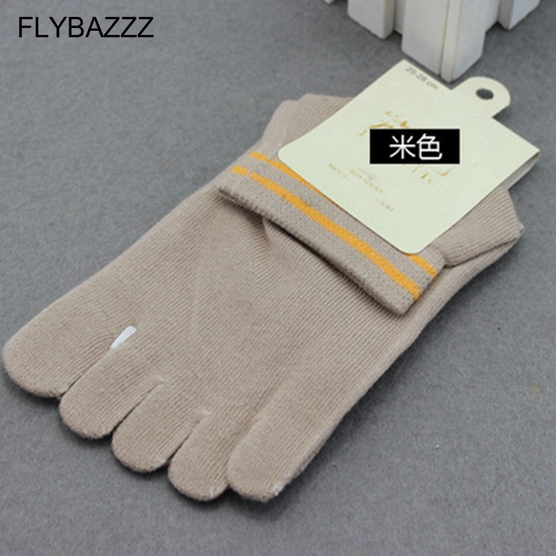 New 1 Pair Men Healthy Care Cotton Five Toe Cycling Socks Male Casual Breathable 5 Toes Cloven Solid Sock Hiking Running Sock in Cycling Socks from Sports Entertainment
