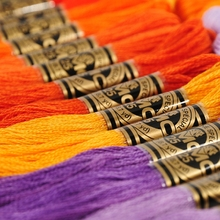 Французские нитки DMC 447 шт., 1 шт./цвет, белая анкерная перекрестная игла, хлопковая нить для вышивания, нить, мотки, шитье, рукоделие