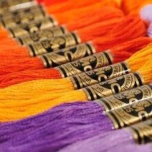 DMC fransa konuları 447 adet 1 adet/renk beyaz çapa çapraz iğne pamuk nakış ipliği ipi Skeins dikiş el sanatları