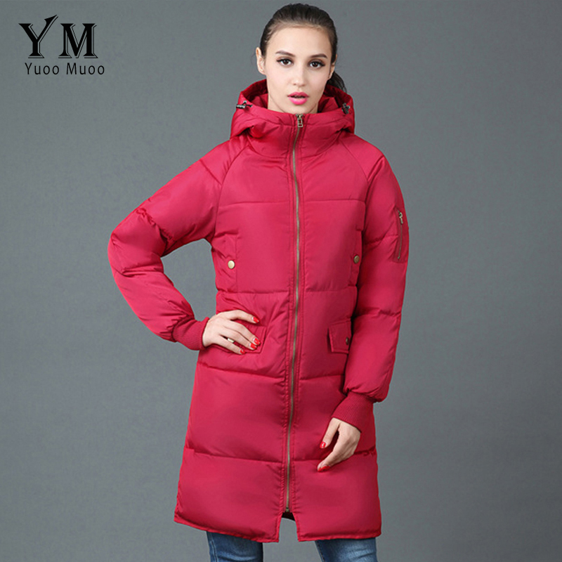 YuooMuoo European Style Loose Women Long Winter Jacket Pockets Design Warm Plus Size Cotton Down Jacket Parka Casual Women Coat winter women down cotton coat long section thick warm cotton jacket solid color wild pockets zipper casual jacket loose parka