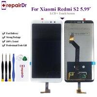 10 шт 100% тестирование оригинальные 5,99 дюймовый черный/белый для Xiaomi Redmi S2 ЖК-дисплей Дисплей + Сенсорный экран планшета Ассамблеи Замена