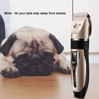 Dog Hair Clipper Pet Hair Clipper Dog Cat Teddy Large Dog Electric Shaver 2D