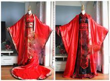Uniwersalne tradycyjne chińskie wesele Hanfu dla panna młoda i pan młody mężczyzna kobieta para ślub kostium Hanfu zestaw cos Xie Lian