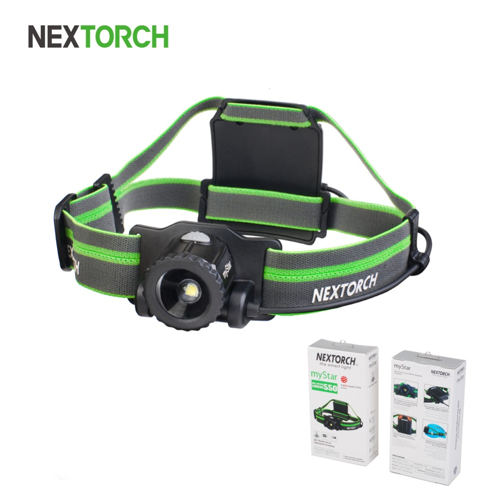 NEXTORCH 550 lumen Headlight High Power Waterproof USB Rechargeable  Adjustable LED Headlamp for Camping Running Hunting#myStar high quality 2 mode power 5w led headlight 48000lx outdoor fishing headlamp rechargeable hunting cap light