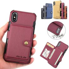 Learther Phone Bag Case for iphone 6 s Plus X 10 iphone XS Max Card Slot Wallet Coque Cover for iphone 8 7 Plus iphone XR Cases cheap insert card holder function+Leather Wallet Case+Vintage iPhone 6 Plus IPHONE 6S iPhone 7 iPhone 7 Plus iPhone 6s plus IPHONE 8 PLUS