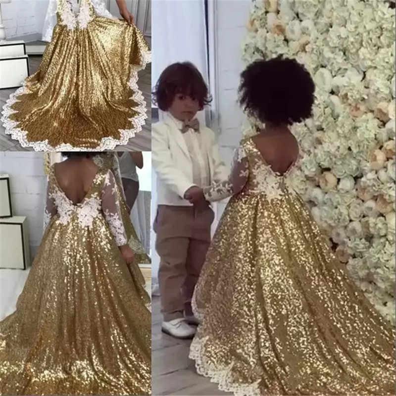 Golden Retro ดอกไม้สำหรับงานแต่งงาน Custom Made New Arrival Hot ประกวดชุดแขนกุดและ Appliques ซาติน