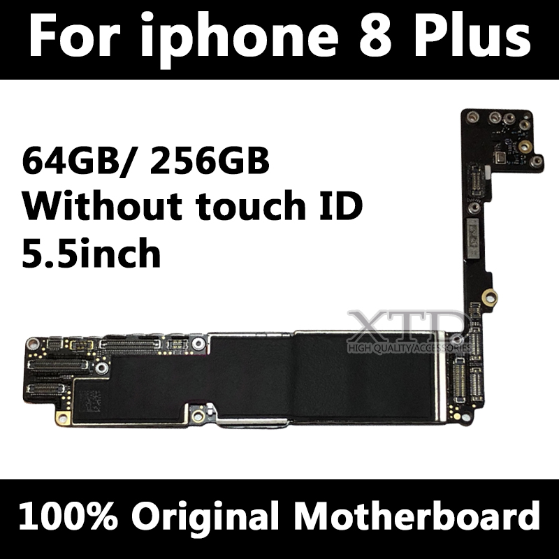 Logic Board For <font><b>iPhone</b></font> <font><b>8</b></font> Plus 100% Original Unlocked Mainboard For 8P 64GB / 256GB Without <font><b>Touch</b></font> <font><b>ID</b></font> <font><b>Motherboard</b></font> <font><b>With</b></font> IOS image