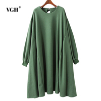 VGH Korean Easy Long Fund Round Neck Sweatshirts Autumn And Winter Will Code Pregnant Woman Skirt