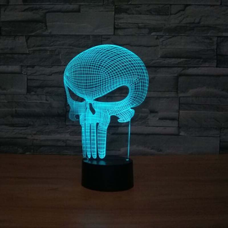 Long Mouth Skull Night Light Color Changing Novelty Gifts Nightlights for Childrens Bedrooms