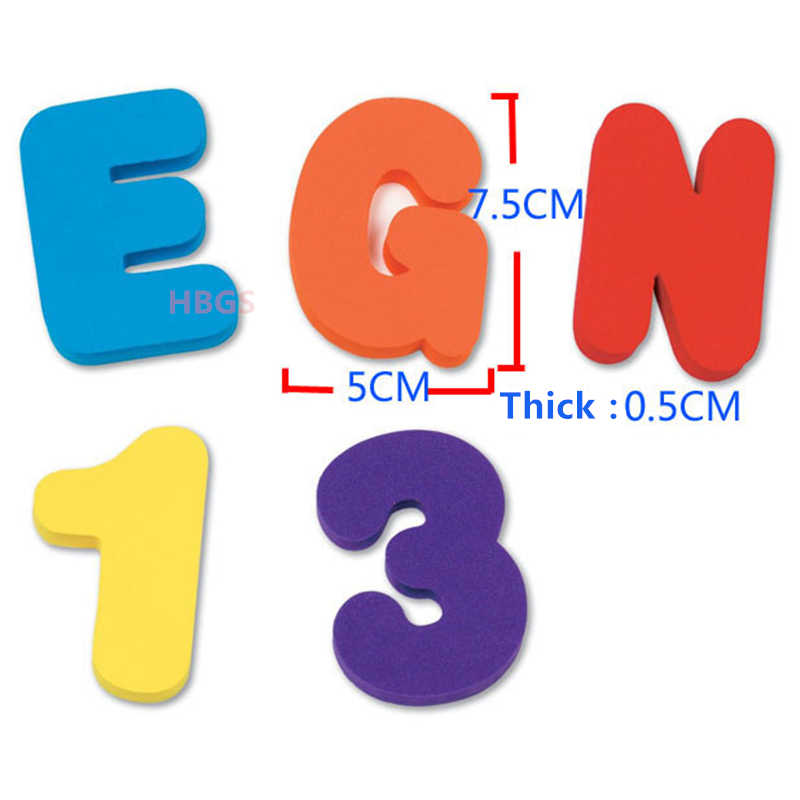 36 Uds. Colchoneta de espuma Eva suave aprendizaje letras y números rompecabezas colorido divertido juguete de baño