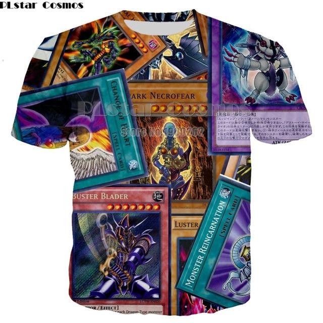 e3516f22ce0 PLstar Cosmos Anime yu gi oh monster cards Harajuku style 3D Full Printed T- shirt New Short Sleeve T Shirt Plus size S-5XL