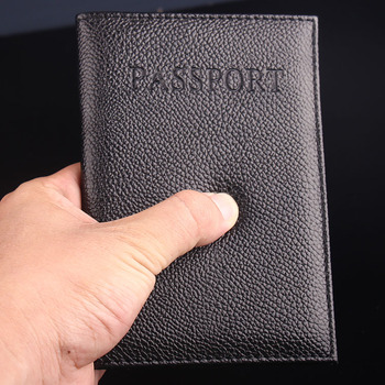 PU passport holder ID credit card ticket travel passport cover protective Trendy Passport Case
