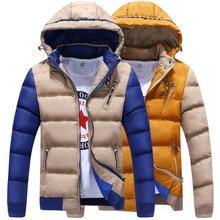 Winter Coat Men 2016 Fashion Warm Thick Jacket Male slim Hoodie Overcoat Men's Parka Outwear Cotton Padded Hooded Coat BJQ1078