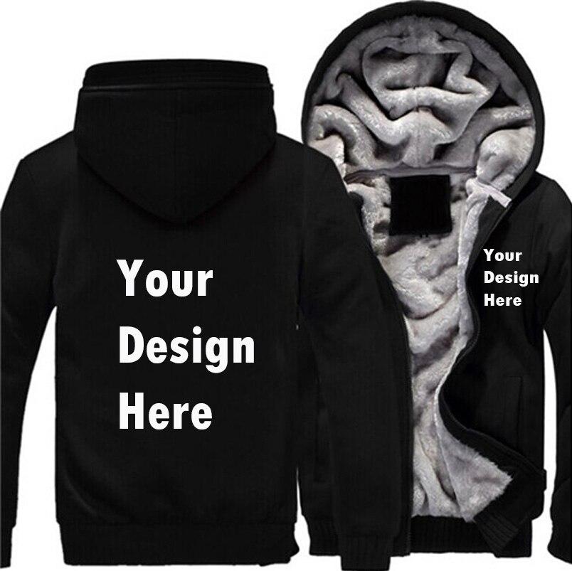 Logo Custom Men Print Hoodies Sweatshirt Winter Men Thicken Hoodies Professionally customized made printing Logo Graphic