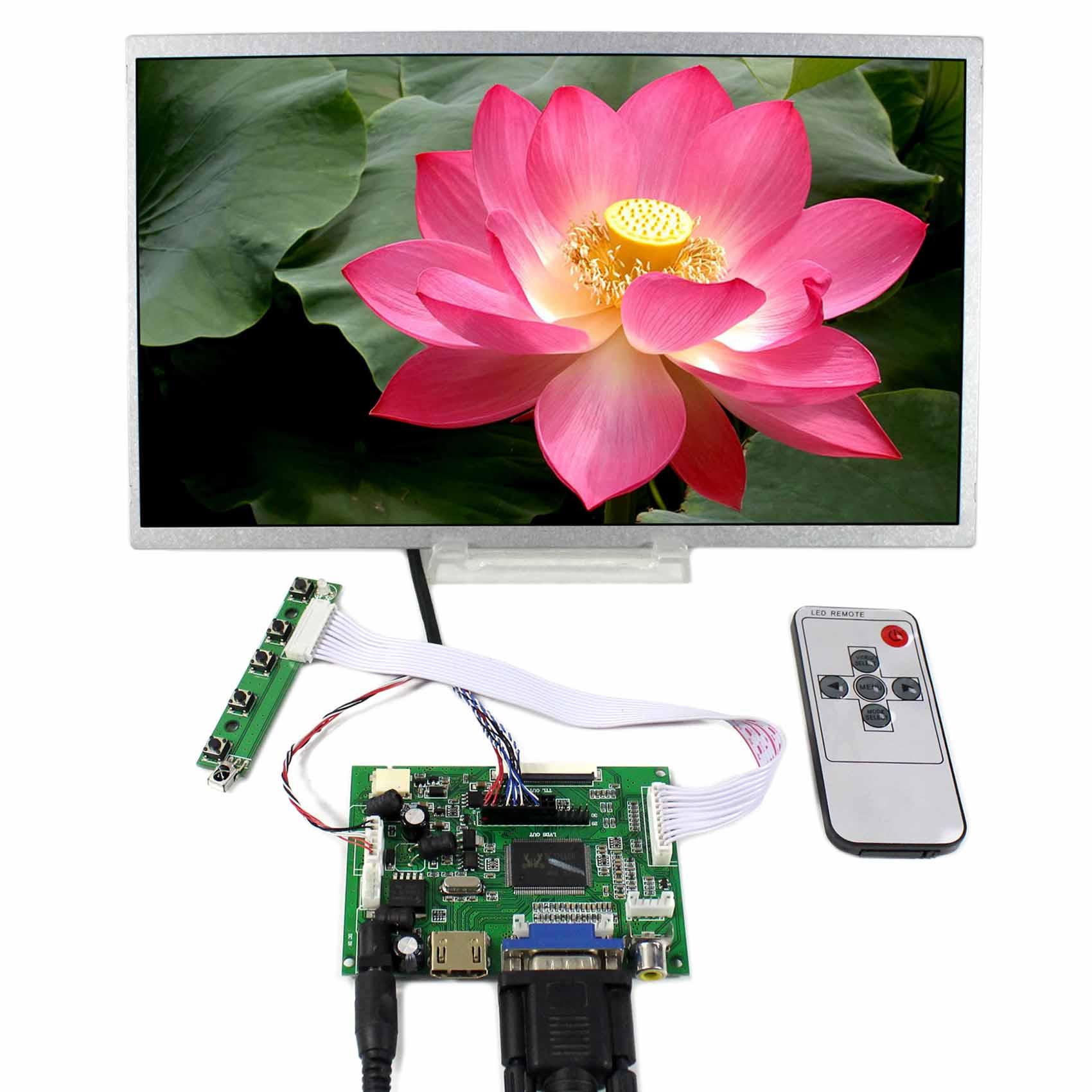 HDMI VGA 2AV LCD Controller Board+11.6inch 1366x768 N116B6 LP116WH1 B116XW02 LCD Screen vga hdmi lcd controller board for lp156whu tpb1 lp156whu tpa1 lp156whu tpbh lp156whu tpd1 15 6 inch edp 30 pins 1 lane 1366x768