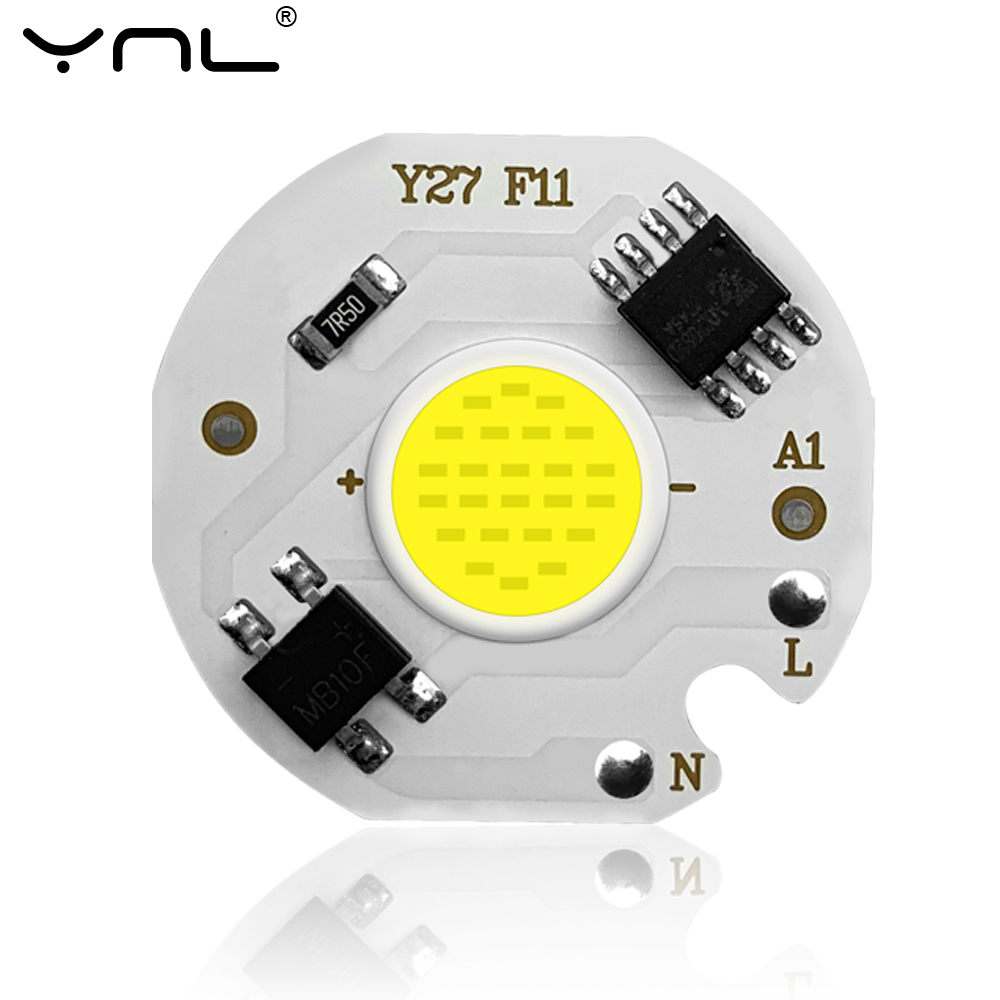 COB LED Lamp Chip 220V No Need Driver Smart IC Ampoule LED Bulb Flood Light For Spotlight 3W 5W 7W 10W 12W Diy Lighting Light
