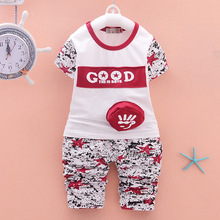 Baby Children Clothing Summer Boys/Girls Clothes Sportswear Letters Printed Cotton Boys Toddler T-Shirt+Shorts Kids Clothing Set