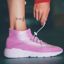 Women Mesh Running Shoes Sport Breathable Sports Sneakers Woman Sock Female Walking кроссовки женские