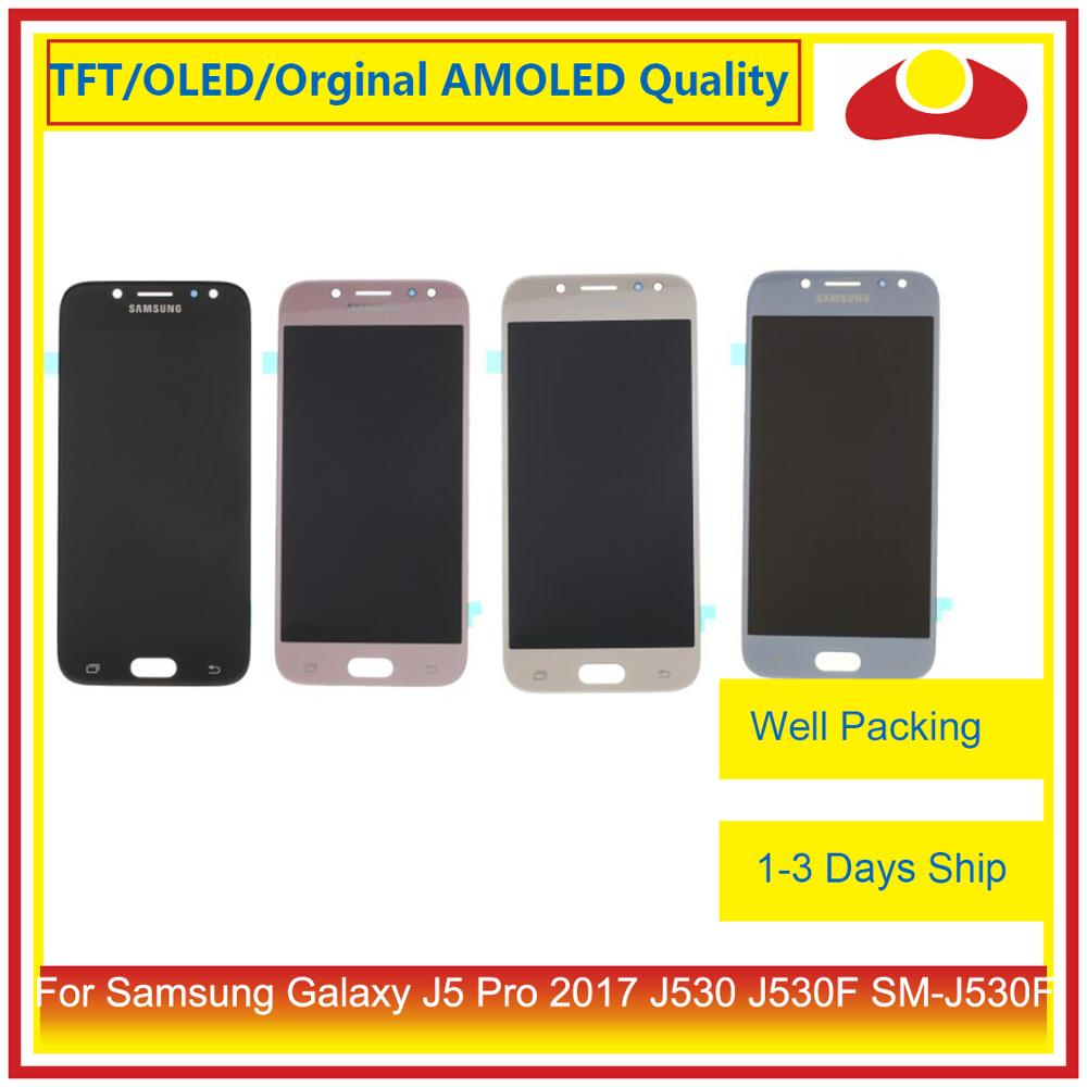 10Pcs lot For Samsung Galaxy J5 Pro 2017 J530 J530F SM J530F LCD Display With Touch Screen Digitizer Panel Pantalla Complete in Mobile Phone LCD Screens from Cellphones Telecommunications