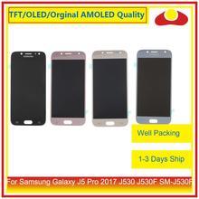 50 قطعة/الوحدة DHL لسامسونج غالاكسي J5 برو 2017 J530 J530F SM J530F شاشة الكريستال السائل مع محول الأرقام بشاشة تعمل بلمس لوحة LCD كاملة