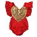 Boutique de Ropa de Bebé Niña Lentejuelas Centelleantes Mamelucos Corazón Infant & Toddler Little Miss Verano de Una sola pieza Sunsuit NY57PF