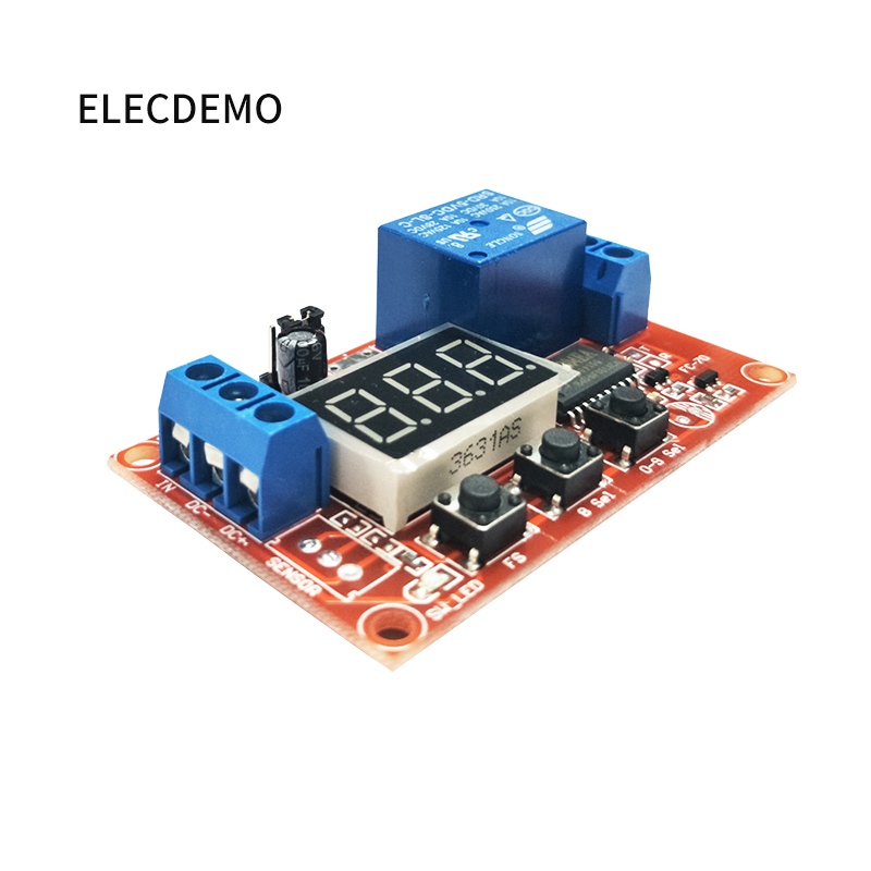 Image 2 - Multi function digital display adjustable power cycle high and low trigger pulse delay relay module 5V12V24V-in Demo Board Accessories from Computer & Office