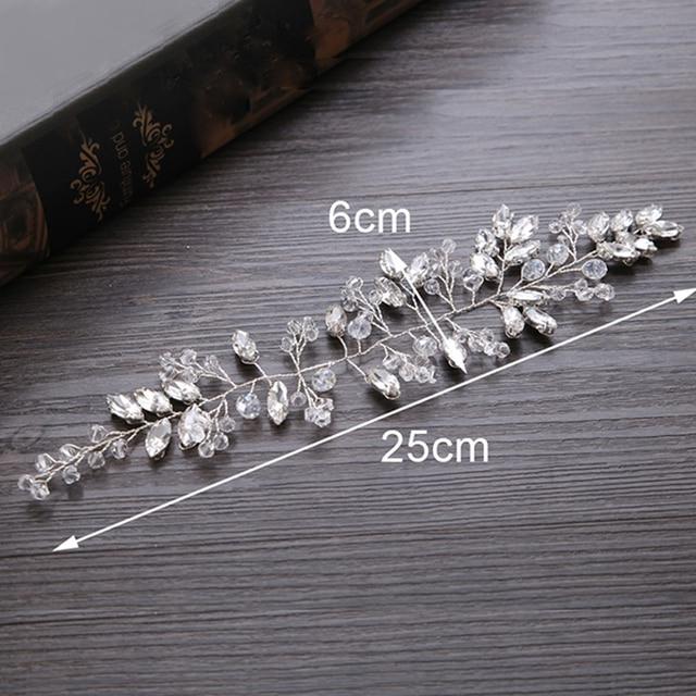 TUANMING New Handmade Flower Headband Crystal Hairband Silver Bride Hair Ornament Romantic Hair Ornament Wedding Jewelry