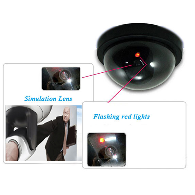 2018-Outdoor-Indoor-surveillance-camera-Dummy-Fake-Surveillance-CCTV-Security-Dome-Camera-with-flashing-red-LED (1)