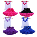 2017 bebés de la gasa faldas ropa de bebé niño establece los juegos de burbujas bebek niñas tutu party faldas faldas conjuntos de ropa de bebé