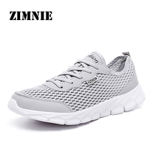 ZIMNIE Brand New Summer Style Fashion Woman Shoes Super Light Weight Lace-up Mesh Breathable Casual Shoes Big size Shoes Woman