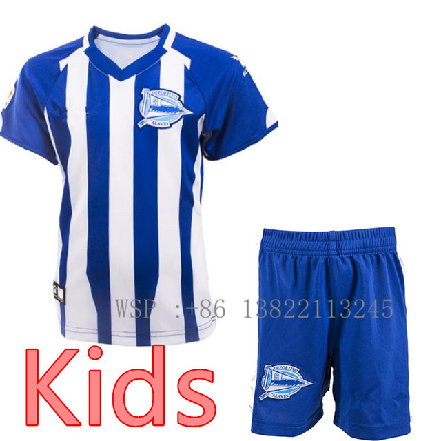 fbdfeceb7 2018 19 Deportivo Alaves kids shirts 18 2019 Alaves child t-shirts Ibai  Sobrino Shirt Maillot free shipping