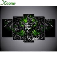 YOGOTOP Needlework DIY Diamond Painting Cross Stitch 5D Diamond Embroidery Full Diamond Decorative Skull Dragon 5pcs