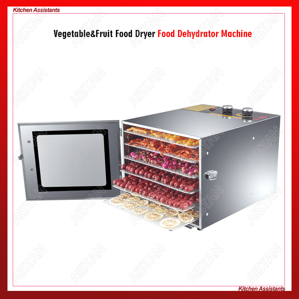 XH01 XH02 6 10 Trays Food Dehydrator Snacks Dehydration Dryer Fruit Vegetable Herb Meat Drying Machine