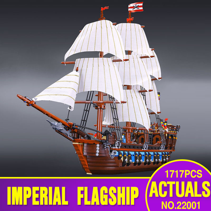 NEW LEPIN 22001 Pirate Ship Imperial warships Model Building Kits  Block Briks Toys Gift 1717pcs Compatible 10210