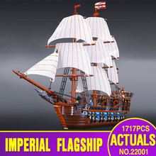NEW LEPIN 22001 Pirate Ship Imperial warships Model Building Kits Minifigure Block Briks Toys Gift 1717pcs Compatible 10210