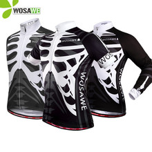 WOSAWE Summer Bicycle Cycling Jersey Men Short Long Sleeveless Shirts Breathable Bike Clothing Sportswear Cycle MTB Jersey цены онлайн
