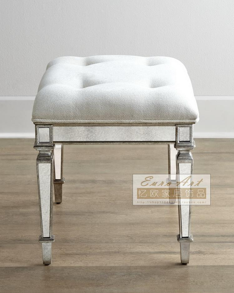 Well known Recalling the European mirror dressing stool stool upholstered  ET84